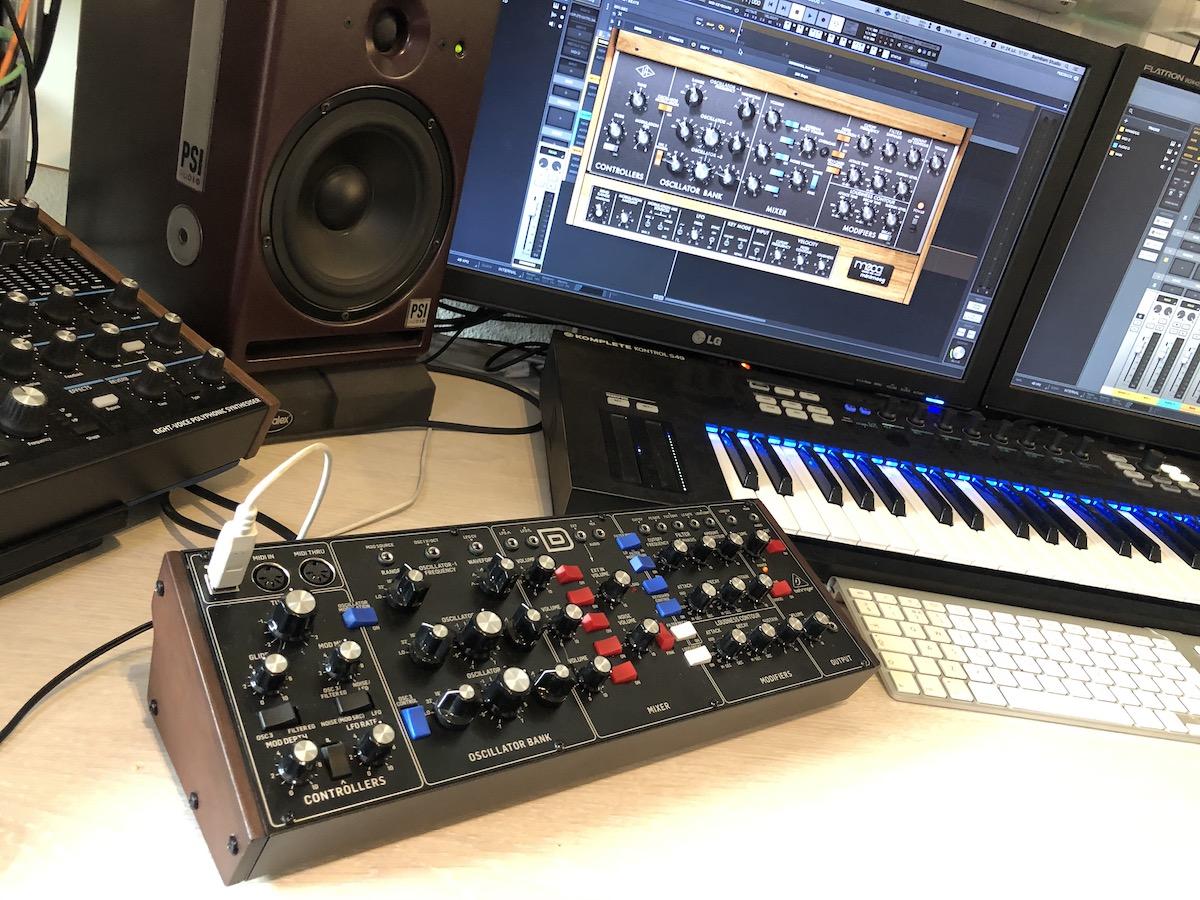 Behringer D vs UAD LUNA Moog Minimoog software 1200